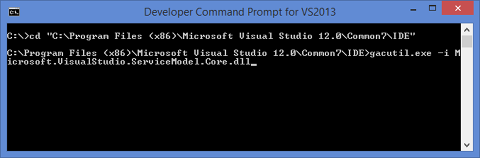 Successful VisualStudio 2013 solution build on CI server using